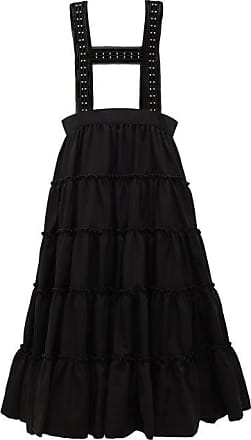Comme Des Garçons Studded Crepe Pinafore Skirt - Womens - Black