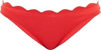 Marysia Swim Santa Barbara Scalloped-edge Bikini Briefs - Womens - Red