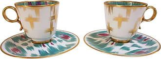 Hermès Porcelain voyage En Ikat Coffee Cups Set For Two, France
