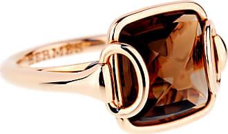 Hermès Deux Anneaux Smoky Quartz Rose Gold Ring