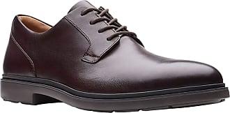 Clarks Un Tailor Tie Oxblood Leather 11.5
