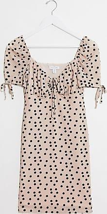 Topshop devore mini dress in blush spot print-Pink