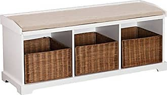 Southern Enterprises AMZ7104CB Storage Bench, White