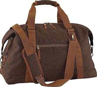 BagBase Bagbase Vintage Canvas Weekender / Holdall Carry Bag (30 Litres) (One Size) (Vintage Brown)
