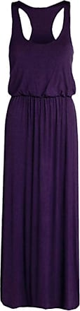 ZEE FASHION Womens Toga Maxi Dress Ladies Plus Size Jersey Racer Back Long Vest Maxi Dress Plus Sizes UK 8-26 Purple