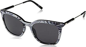 bac28723f Calvin Klein Womens Ck3204s Square Sunglasses, Striped Black/White, 53 mm