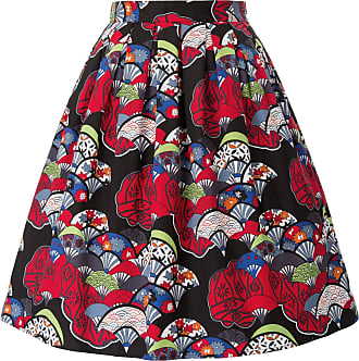 Grace Karin 40s 50s 60s Skirt Rockabilly Floral Party Skirt Summer Knee Length A-line Wedding Guest Swing Skirt CL6294-46 L