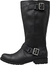 Rocket Dog tall faux leather boots with buckle detail