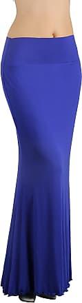 iLoveSIA Womens Bodycon Long Stretch Skirt Jersey Maxi Dress Rayal Blue UK Size 6