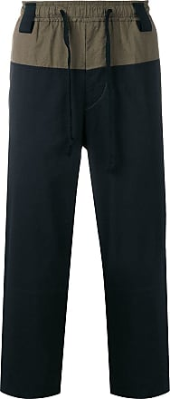 Ziggy Chen two tone loose fit trousers - Black