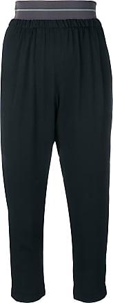 Fabiana Filippi contrast waistband trousers - Black