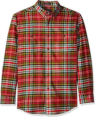 Pendleton Mens Long Sleeve Button Front Hawthorne Flannel Shirt, Caledonia, MD