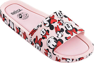 Melissa Beach Slide + Mickey And Friends (Rosa/Branca)