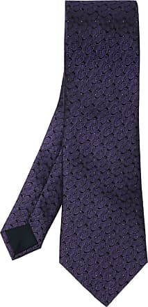 Lanvin Silk Tie Mens Navy Blue