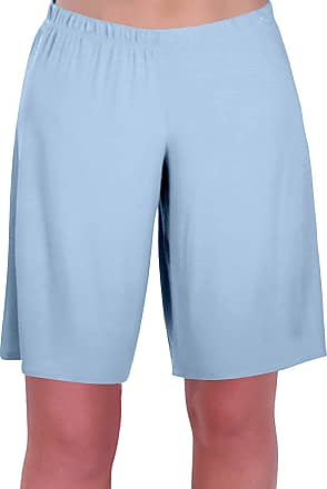 Eyecatch Star Ladies Jersey Relaxed Comfort Elasticized Flexi Stretch Womens Shorts Plus Sizes Sky Blue Size 12/14