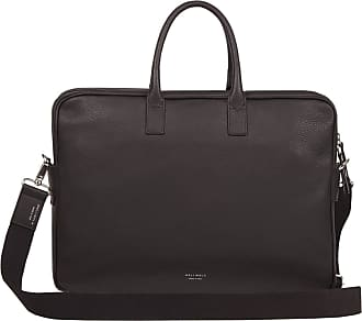 Meli Melo Meli Melo Briefcase in Chocolate Brown Leather for Men