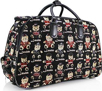 Your Dezire Women Ladies Travel Bag Holdall Luggage Weekend Holidays Handbag Wheeled Trolley New Black
