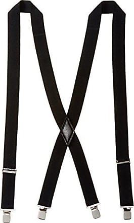 Dockers Mens 1.5 Inch Cotton Terry Suspender, Black, One Size