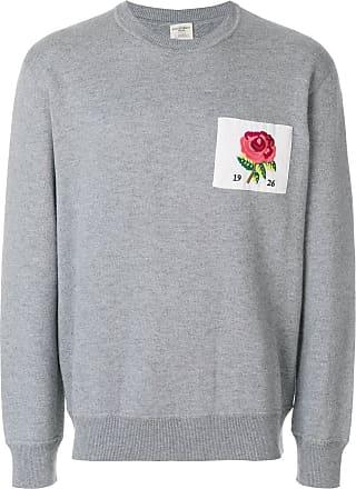 Kent & Curwen Suéter com patch de rosa - Cinza