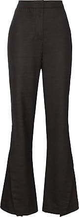 Wright Le Chapelain Calça flare cintura alta - Marrom