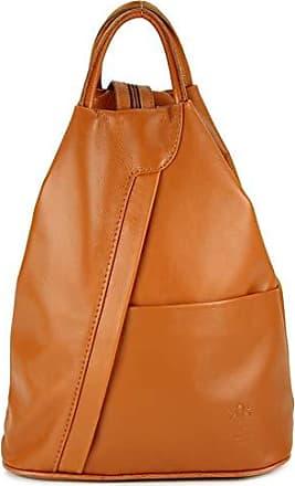 5eeb67520e088 Belli City Backpack leichte italienische Leder Damentasche Rucksack  Handtasche in cognac - 29x32x11 cm (B