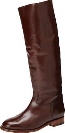 Frye Womens Abigail Riding Polished Boot, Dark Brown, 6.5 M US