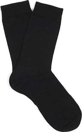 Falke Soft Wool And Cotton-blend Socks - Womens - Black