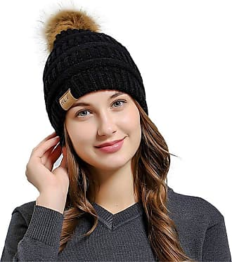 Laisla Fashion Knitted Hat Warmer Crochet Wool Hat Beanie Ski Classic Hats Caps Unisex Hats Hat Balaclava Knitted Hat (Color : B-Schwarz, One Size : One Size)