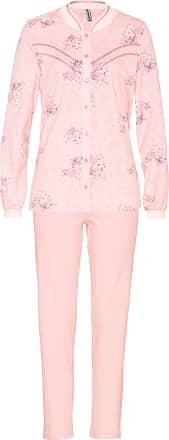 Avena Damen Thermo-Schlafanzugdessin Rosé geblümt Gr. 38, 40, 42, 44, 46, 48, 50, 52