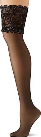 Fiore Womens Sandrine/Sensual Hold-up Stockings, 20 DEN, Black, Medium