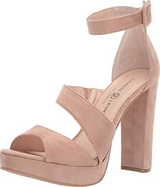 Chinese Laundry Womens Riddle Heeled Sandal Dark Nude Suede 5.5 M US