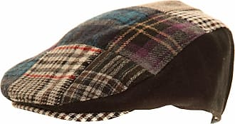 Universal Textiles Mens Patchwork Winter Flat Cap with Wool (57cm) (Black)