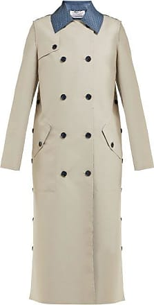 Gabriela Hearst Claremont Reversible Wool-blend Trench Coat - Womens - Blue Multi