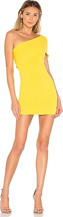Superdown Diana One Shoulder Dress in Yellow