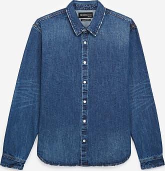 The Kooples Blue denim shirt with classic collar - MEN