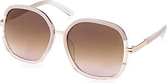 Jessica Simpson Womens J5443 Ndx Non-Polarized Iridium Round Sunglasses, Nude Black, 68 mm