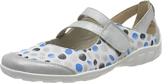 Remonte Womens R3427 Ankle Strap Ballet Flats, Multicolour (Ice/Weiss/Blue-Silber 82), 5 UK