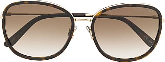 Bottega Veneta Óculos de sol quadrado - Marrom