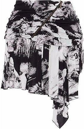 43156ca458 Roberto Cavalli Roberto Cavalli Woman Draped Printed Jersey Mini Skirt  Black Size 42