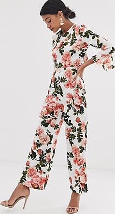 Unique21 Unique21 satin floral open back jumpsuit-Multi