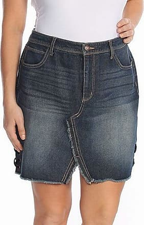 Jessica Simpson Womens Blue Denim Above The Knee Skirt Size: 32 Waist