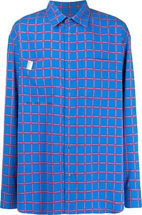 WWWM - What We Wear Matters Camisa xadrez mangas longas - Azul