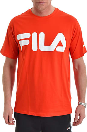 FILA MEN/'S MESH JERSEY TEE RED WHITE BLUE WITH FILA LOGO T-SHIRT NWT