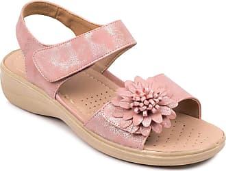 Cushion-Walk Ladies Womens Touch Fasten Sandal Pink 4 UK