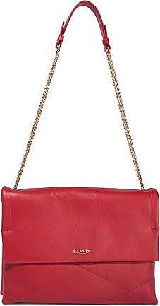85d2e7b80 Lanvin Lanvin Woman Chain-trimmed Leather Shoulder Bag Brick Size
