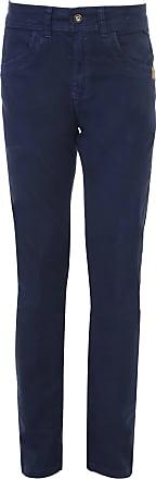 Zune Jeans Calça Sarja Zune Slim Pespontos Azul-Marinho