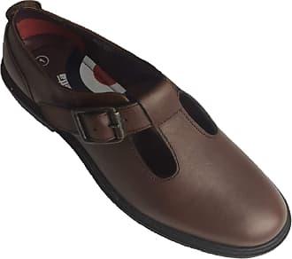Lambretta Brooklyn Ladies T-Bar Shoes (6 UK) Dark Brown