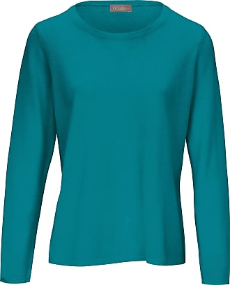 include Round neck jumper in pure new wool and cashmere include turquoise
