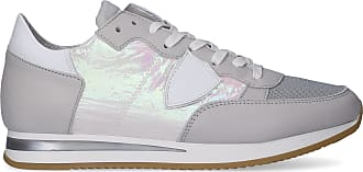 Philippe Model Low-Top Sneakers TROPEZ calfskin suede textile Logo Patch beige pale pink