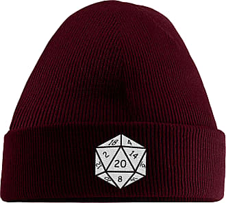 HippoWarehouse They See Me Rolling They Hating Embroidered Beanie Hat Maroon